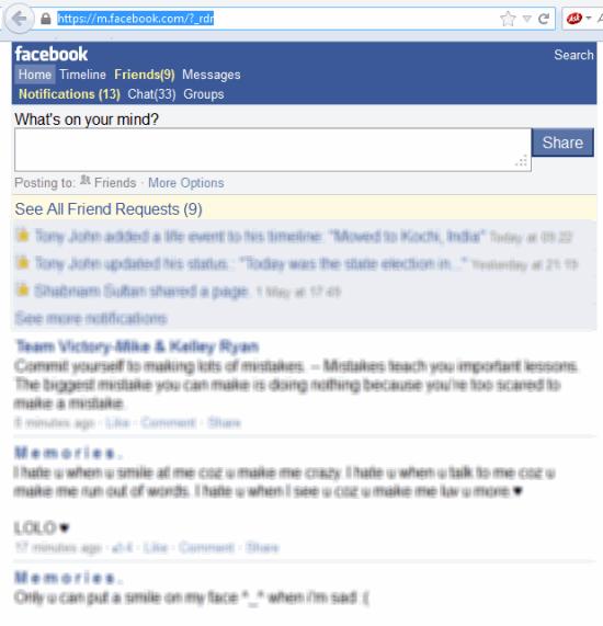 facebook-mobile-version