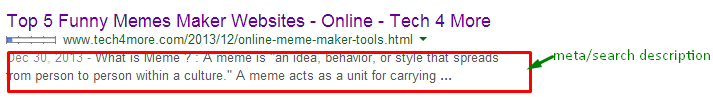 perfect meta description-seo