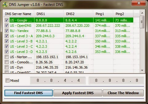 Increase Internet Speed by Choosing Fastest DNS Servers
