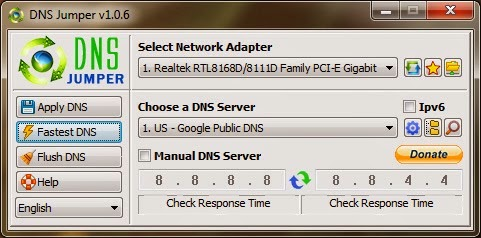 Increase Internet Speed by Choosing Fastest DNS Servers - Using DNS Jumper