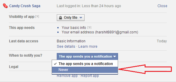 How to Stop Candy Crush Saga Facebook Request Notifications-4