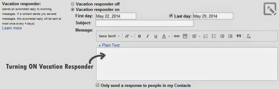 How to add a vacation responder in Gmail?
