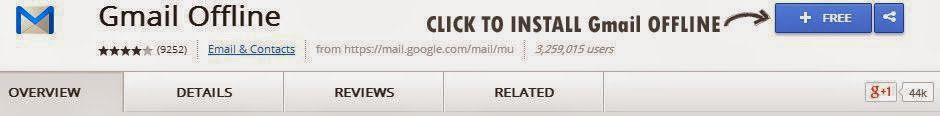 How to add offline Gmail to our browser?