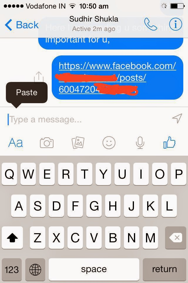 How to Copy and Paste Text from Facebook App on iPhone:iPad-3