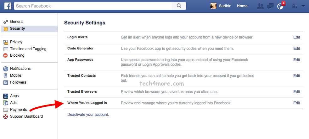 How to Logout of Facebook Messenger Remotely from All Devices-3