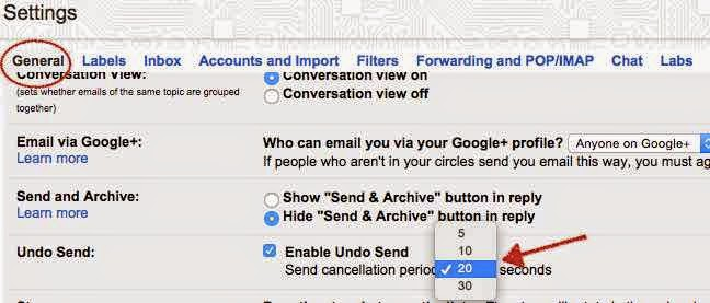 How to Undo Sent Emails in Gmail with Delay time upto 30 seconds-2