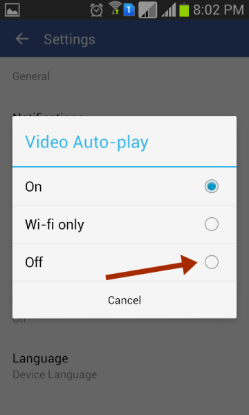 How To Stop Facebook Video Autoplay On Android