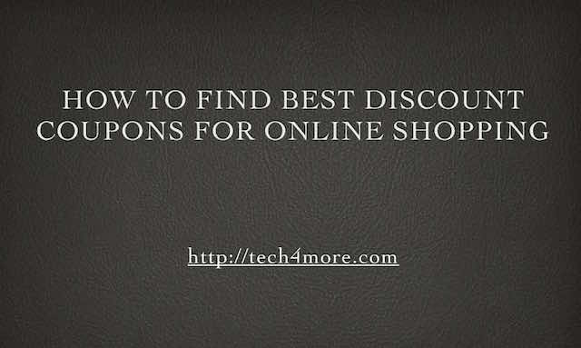 How to Find Best Discount Coupons for Online Shopping